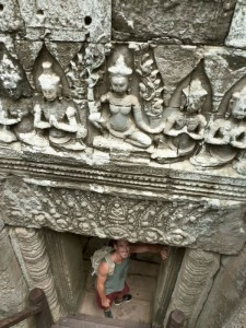 A person at Angkor
