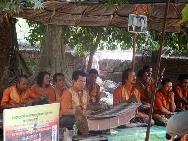 At the Banteay Srei temple, we watched a live performance of traditional Khmer music by victims of Cambodian land mines. Photograph by junior Snigdha Nandipati.
