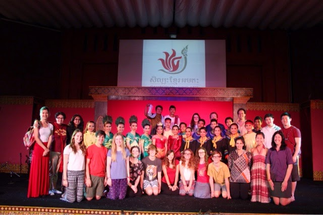 Francis Parker Students group photo with Cambodia Living Arts Performers