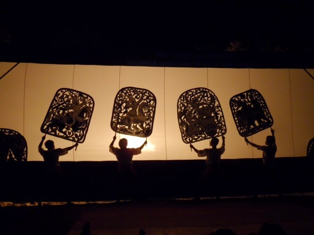 Scene from shadow puppet performance. Photographed by senior Karina Dominguez.