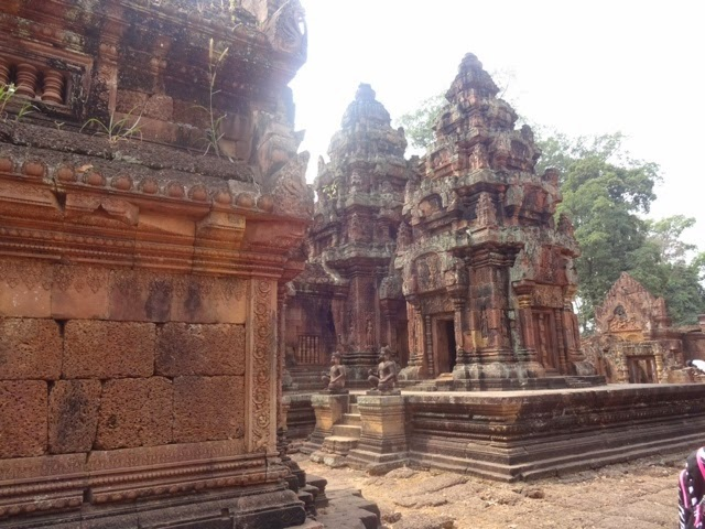 Interior of the Banteay Srei temple. Photograph by junior Snigdha Nandipati.