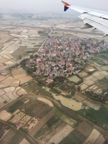 A view of Hanoi from the airplane