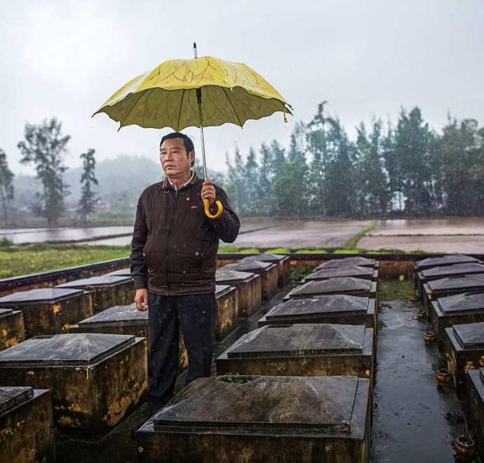 "Pham Thanh Cong, the director of the My Lai Museum, was eleven at the time of the massacre. His mother and four siblings died. ""We forgive, but we do not forget,"" he said. CREDIT PHOTOGRAPH BY KATIE ORLINSKY"