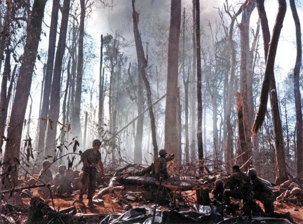 American troops in action on Hill 875 at Dak To (fall 1967), one of the bloodiest engagements of the war (US Army Heritage and Education Center)