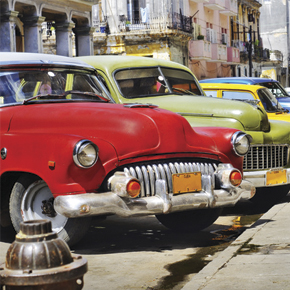 Classic cars on our Cuba student travel program