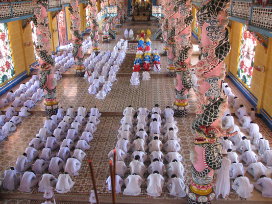 Temple on our Vietnam student travel program